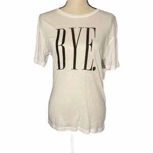 NWT Kid Dangerous BYE Graphic Tee